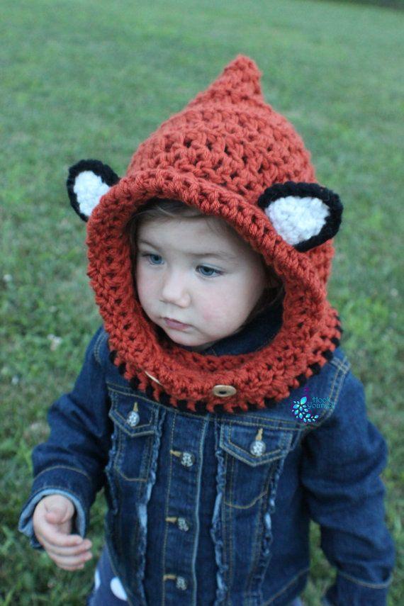 Crochet Fiona the Fox Crochet Hoodie by HookYourself on Etsy, $33.00