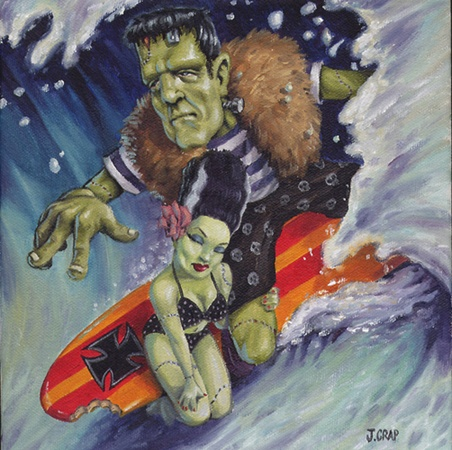 Me and my Frankie surfin it up!  Franken Surfer by Johnny Crap