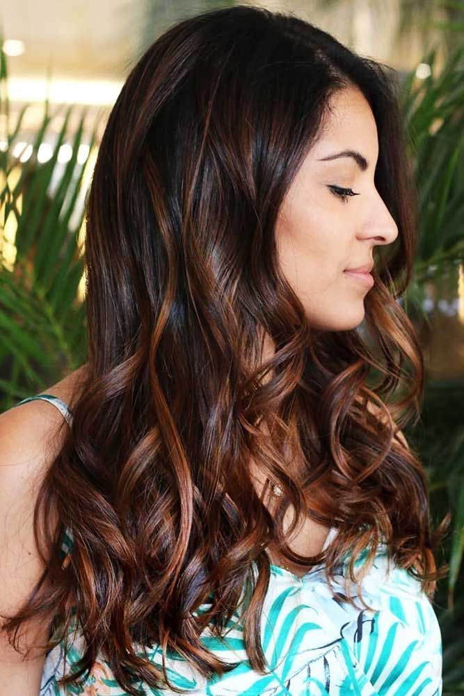 Hair Color 2017 2018 Black With Chestnut Brown Highlights
