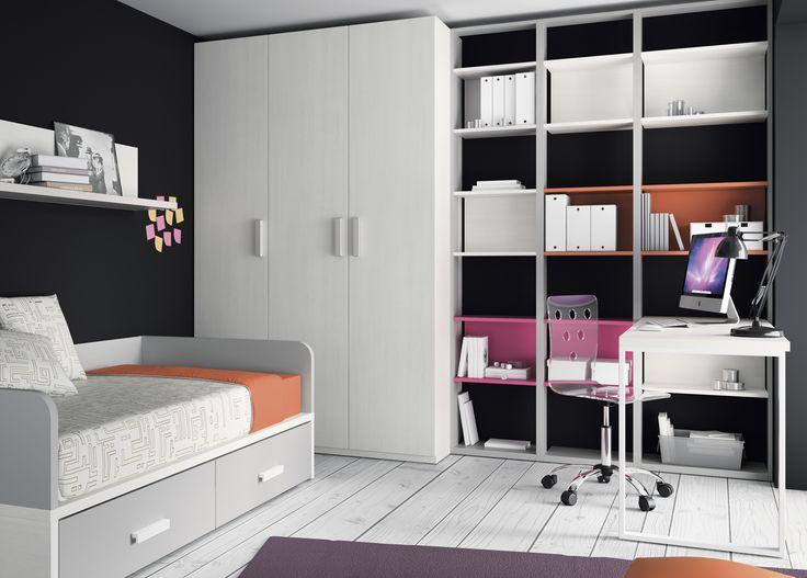 Lo tiene todo habitaci n juvenil kids touch muebles for Habitacion juvenil cama nido