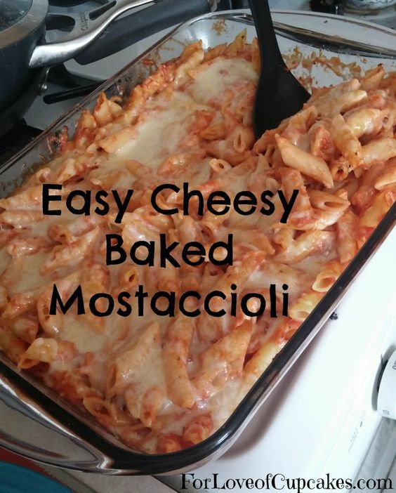 Easy Cheesy Baked Mostaccioli - Great for Meatless Friday!