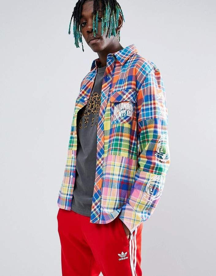 e11d14de Billionaire Boys Club Multi Check Shirt With Sleeve Print #fashion  #mensfashion #affiliate