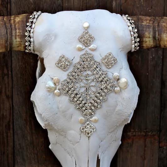 Couture Bride Cow Skull - Child of Wild  - 3
