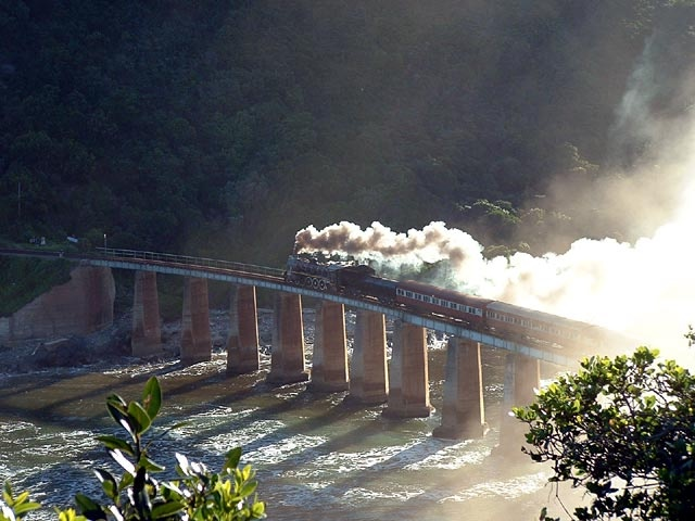 Wilderness Train bridge over Kaaimans river - one of my favourite swimming spots, South Africa
