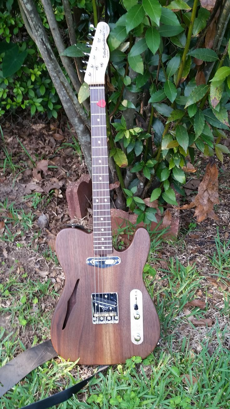 Custom Black Walnut Tele-style.  Book matched  top.