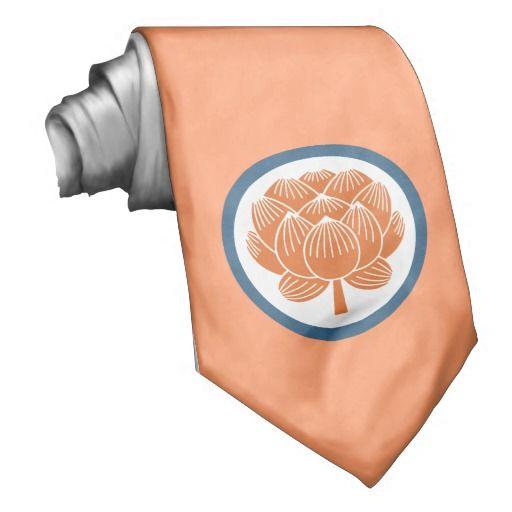 Lotus Flower Kamon Tie