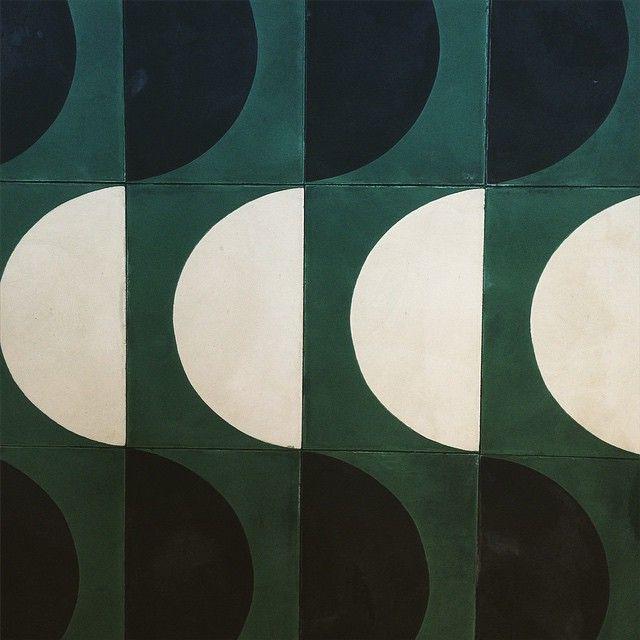 Popham Design ARCH tiles looking suitably verdant