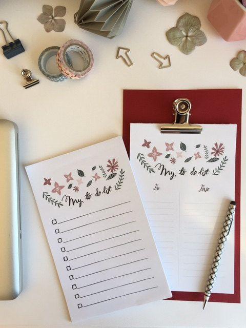 To do list notebook notepad organizer planner to-do by BrindeCrea