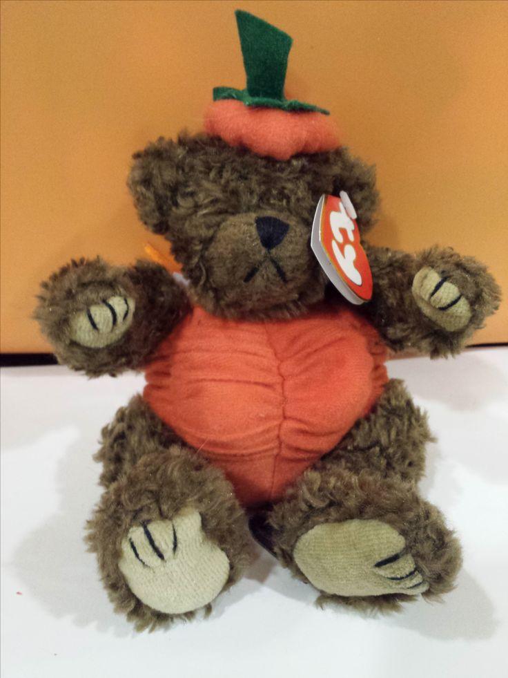 Halloween Pumpkin Bear TY