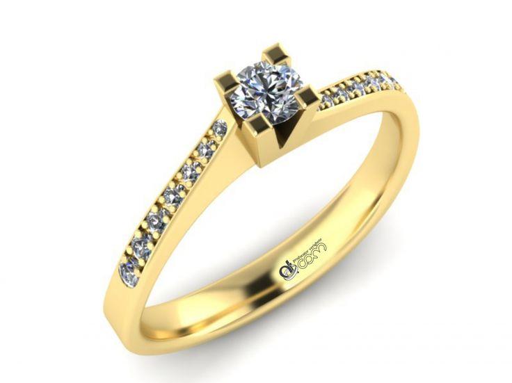 Inel de logodna ATCOM Lux cu diamante MIRUNA aur galben