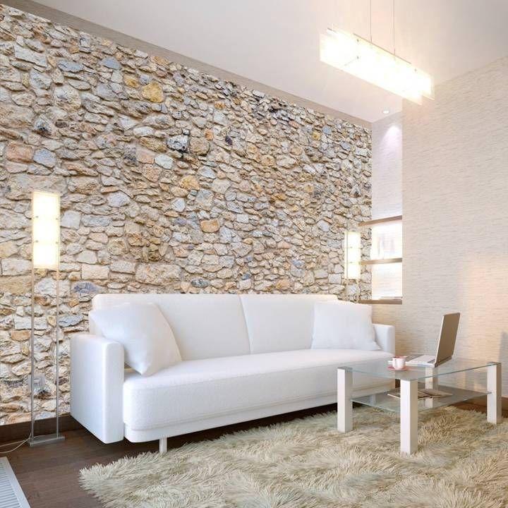 Die besten 25+ Steinoptik wand Ideen auf Pinterest Steinoptik - wohnzimmer mit steinwand