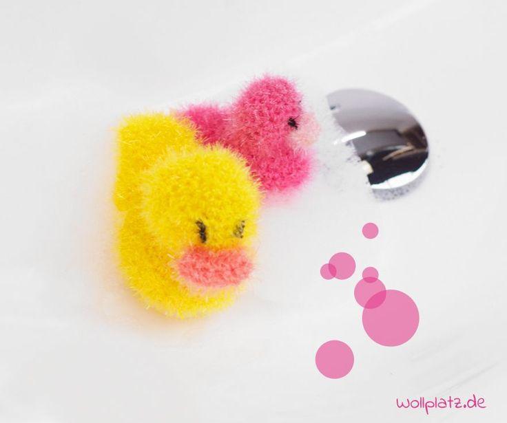 Badeente häkeln - Mit dem witzigen Garn Creative Bubble häkeln Sie Ihr Bade- oder Küchenschwämmchen einfach selbst. Hier gehts zur gratis Anleitung...