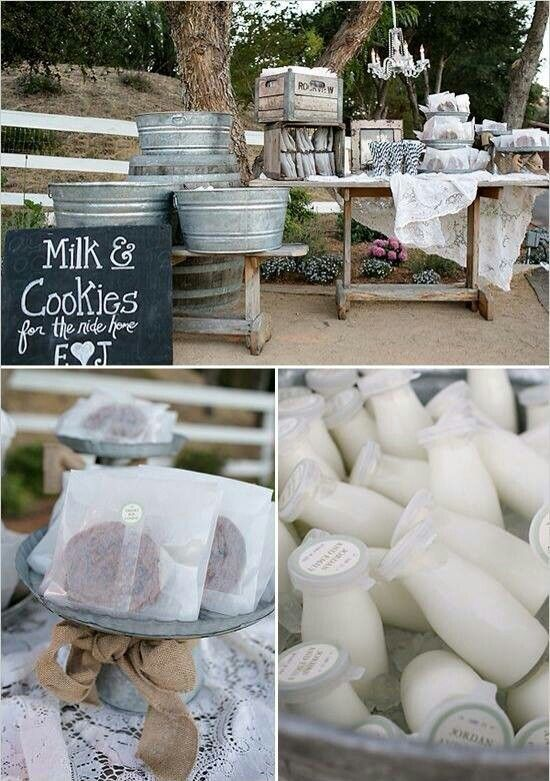 I love this idea. I mean who doesn't like cookies and milk???