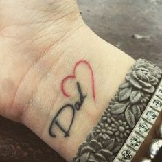 Sweet. Simple. To the point. Lovely tattoo ideas to pay tribute to dad