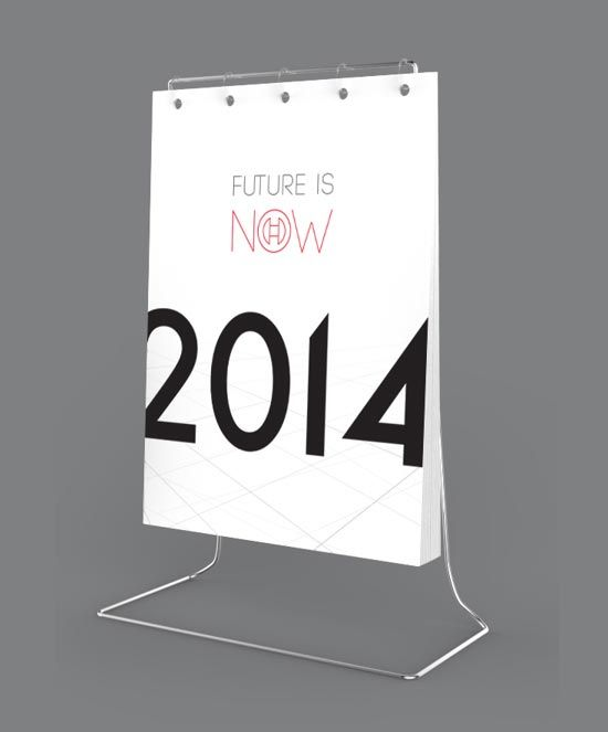 25 New Year 2014 Wall & Desk Calendar Designs For Inspiration