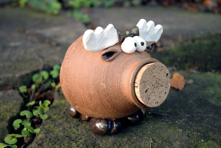 Moose Ceramic Piggy Bank