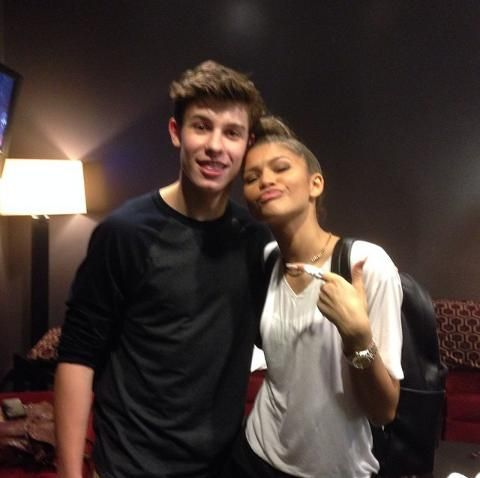 Zendaya with Shawn Mendes at Radio Disney's Family VIP Birthday in LA 11/22/14