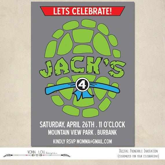 Best 25 Ninja turtle invitations ideas – Teenage Mutant Ninja Turtle Party Invitations