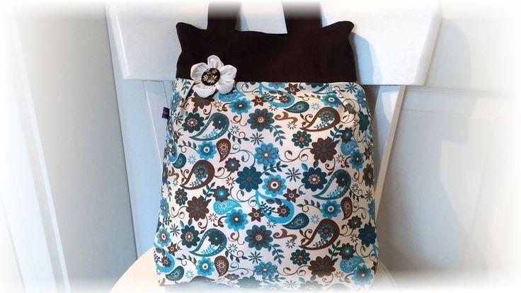 Ballontaschen - Ballontasche, Handtasche petrol braun - ein Designerstück von…