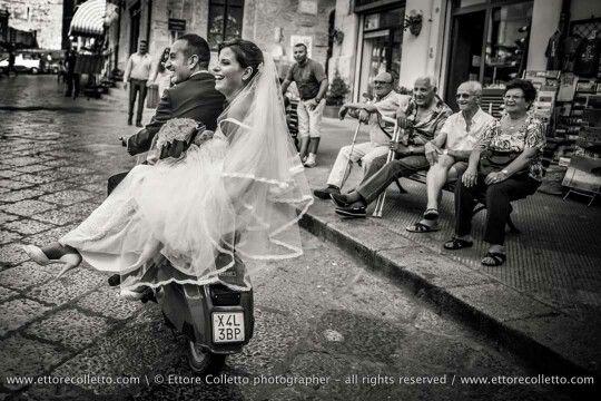 Matrimonio su 2 ruote a Cefalù  By Ettore Colletto fotografo per matrimoni in Sicilia
