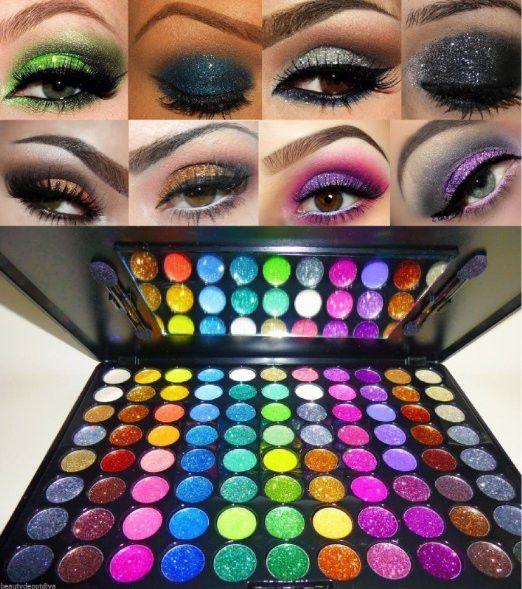88 Color Glitter Cream Pro Eye Shadow Makeup Cosmetic Beauty Eyeshadow Palette