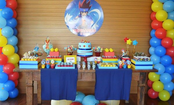 Since the Atlas boys frequently give us input on kid parties they see on the blog, they love when a boy party comes in. ThisBeyblade party was styled by Olivia from Invento Festa in Brazil for a little boy's 5th birthday and received a big seal of approval from both Atlas boys {they have a …