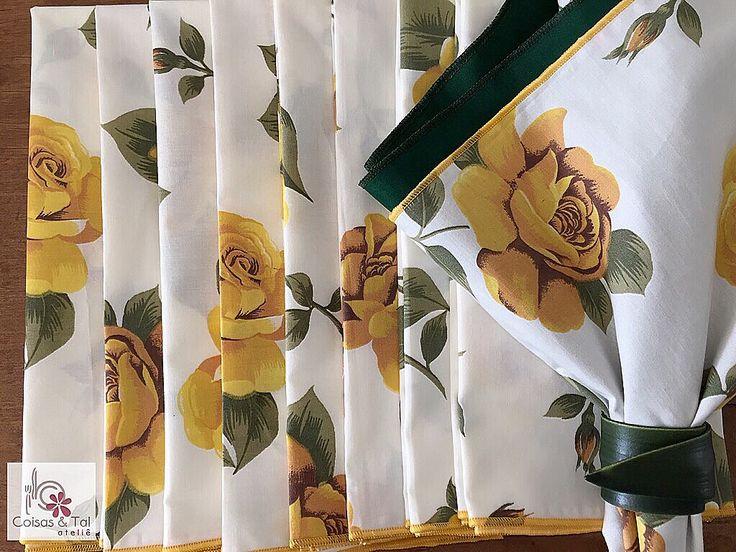 Guardanapo Floral em 100% algodão  contatocoisasetal@hotmail.com 🌼🌼🌼🌼🌼🌼🌼🌼🌼🌼🌼🌼