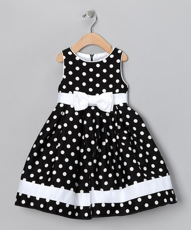 Take a look at this Black & White Dotty Dress - Infant, Toddler & Girls by Spring Soire: Girls' Dresses on #zulily today!