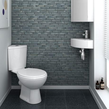 Bermuda Corner Cloakroom Suite This a great en suite bathroom idea!