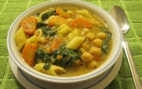 Sick day soup, a soul warming hearty soup for a cold day. Use gluten-free pasta and stock for a gluten-free version. Beans are high FODMAPS, so substitute for cooked chicken or crumbled tempeh if beans cause you stomach trouble.