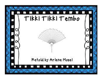 Small groups context clues and group on pinterest for Tikki tikki tembo coloring pages