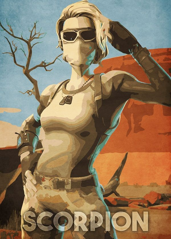 Scorpion by Durro Art metal posters Art Game art