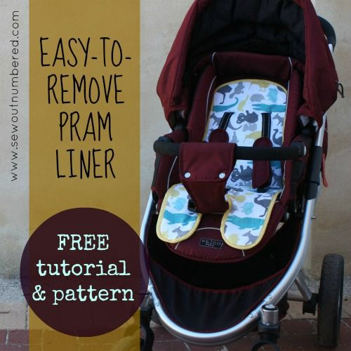 Easy-to-remove Pram Liner: Free Tutorial and Pattern