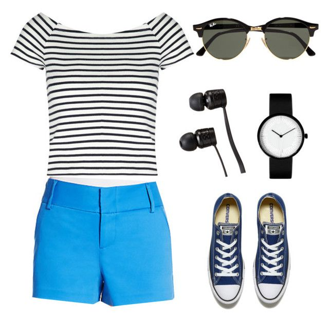 недоморячка by explorer-14660856367 on Polyvore featuring мода, Lipsy, Alice + Olivia, Converse, Ray-Ban and Vans