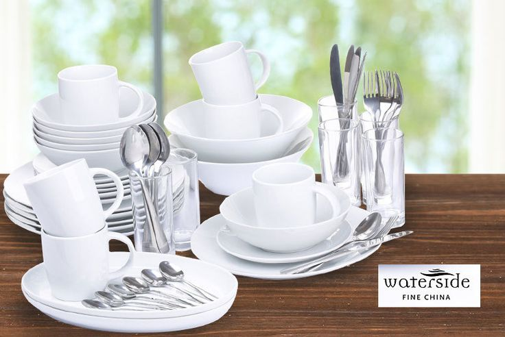 58pc Hudson White Dinner Set deal in Cutlery Get a 58 piece fine china dining set.  A comprehensive set of plates, bowls, platters, mugs, glasses and cutlery.  Dishwasher and microwave safe.  Made from elegant pure white porcelain – great for dinner parties! BUY NOW for just £42.00 Check more at http://nationaldeal.co.uk/58pc-hudson-white-dinner-set-deal-in-cutlery/