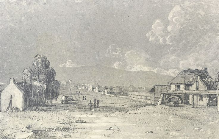 PHOTOS: supplied  Early picture of Pietermaritzburg, dated 1848.