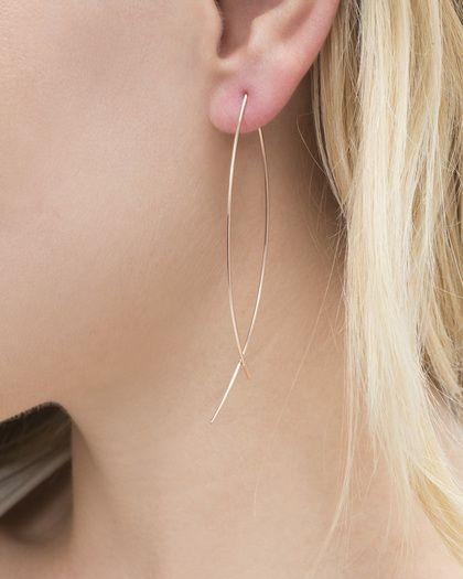 rose plume earrings