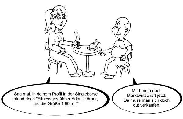 Karikatur Blind Date