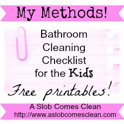 53 best cleaning printables images on pinterest