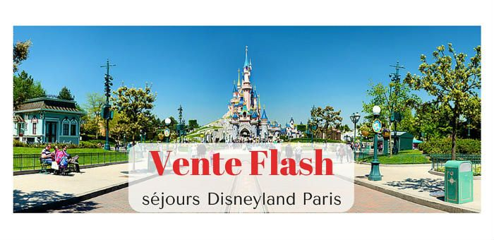 La vente privée à peine terminée (ce matin à 6 heures), Disneyland Paris propose la vente flash sur ses derniers séjours. 45 % de réduction Au programme, d