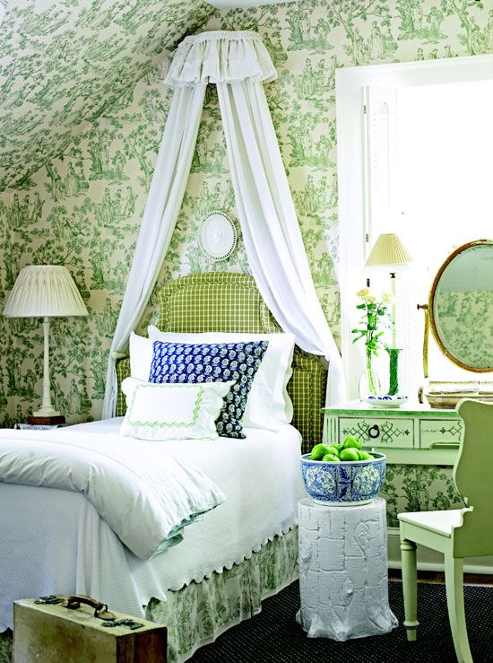 1000 Images About Green And Blue Toile On Pinterest