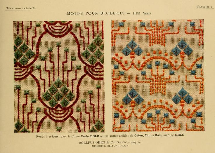 Motifs pour broderies. (IIIme série) No. 1