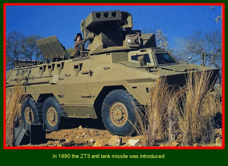 SADF.info  RATEL ARMOURED INFANTRY FIGHTING VEHICLE In 1990 ZT3 anti tank missile was introduced