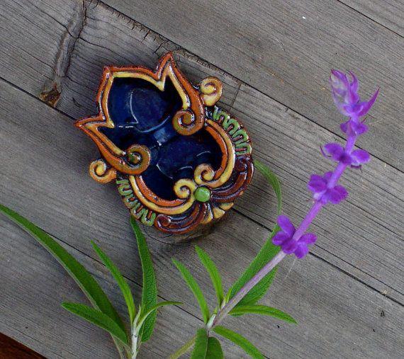 Ganesha  like  Shaped Diwali Bowl with Dark blue by BoneStructure, $15.00
