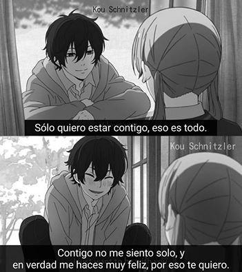 Solo quiero estar contigo.
