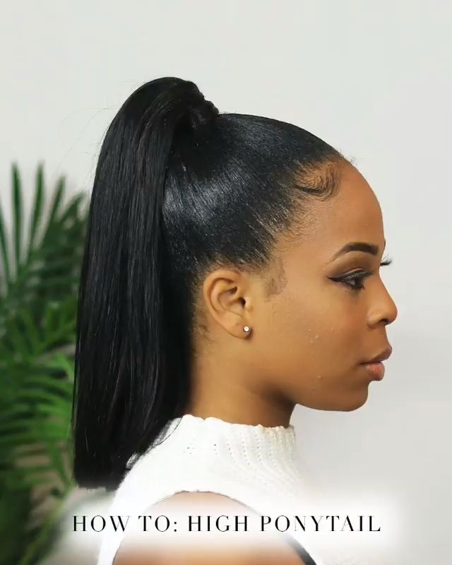 Gonna Try This Out Gonna Black Ponytail Hairstyles Hair Ponytail Styles Short Hair Styles