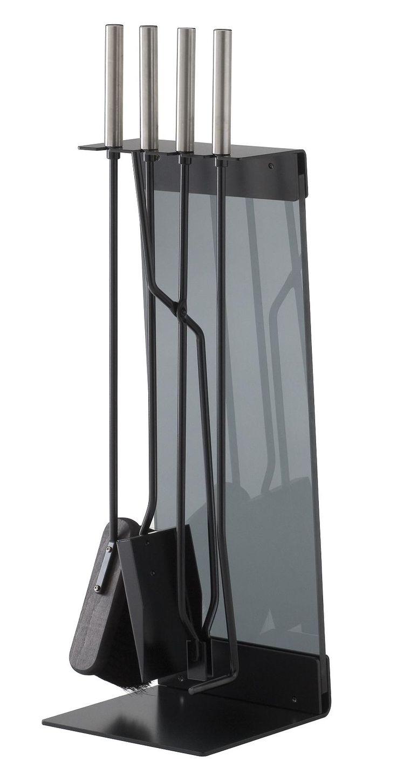 Zestaw Teras w wersji ze stali pomalowanej na czarno i przyciemnionym szkłem. Elegancki i niezwykle funkcjonalny.