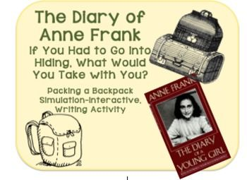 best anne frank images anne frank teaching  a simulation engaging activity for the diary of anne frank what would you take