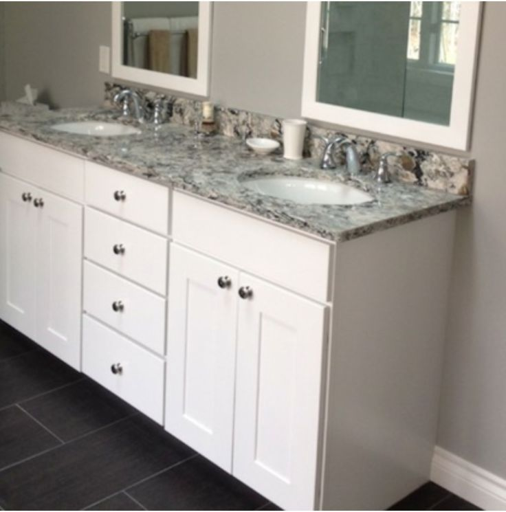 Kabinart White Shaker Vanity Bathrooms Pinterest