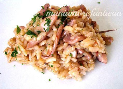 """Vi propongo un risotto semplice ai calamari, per gustare il """"sapore del mare"""" senza complicarvi la vita con altri pesci e molluschi vari..."""